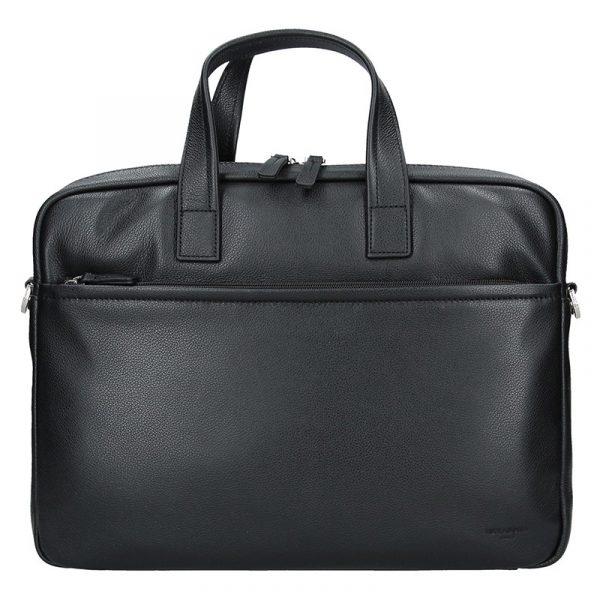 Pánská kožená taška přes rameno Hexagona Amarel – černá