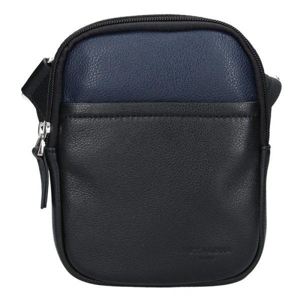 Pánská taška na doklady Hexagona Vilém – černo-modrá