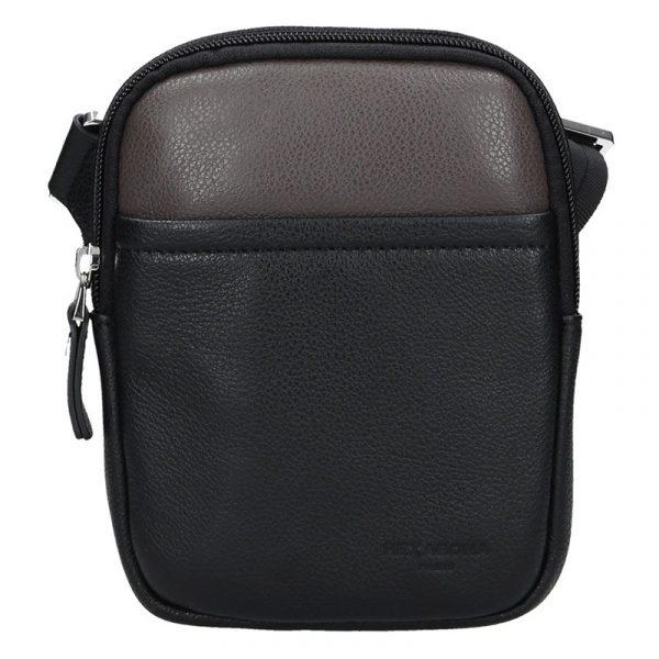 Pánská taška na doklady Hexagona Vilém – černo-hnědá