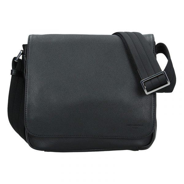 Pánská kožená taška přes rameno Hexagona Leopold – černá