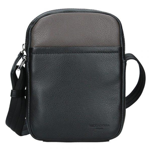 Pánská taška na doklady Hexagona Augusto – černo-hnědá