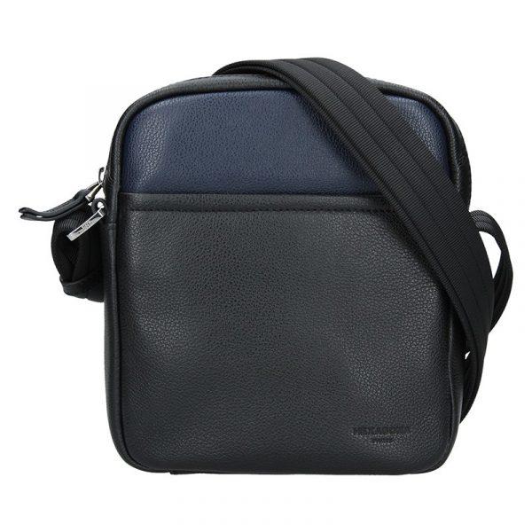Pánská taška na doklady Hexagona Kolen – černo-modrá