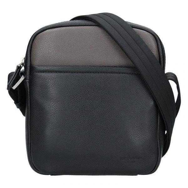 Pánská taška na doklady Hexagona Kolen – černo-hnědá