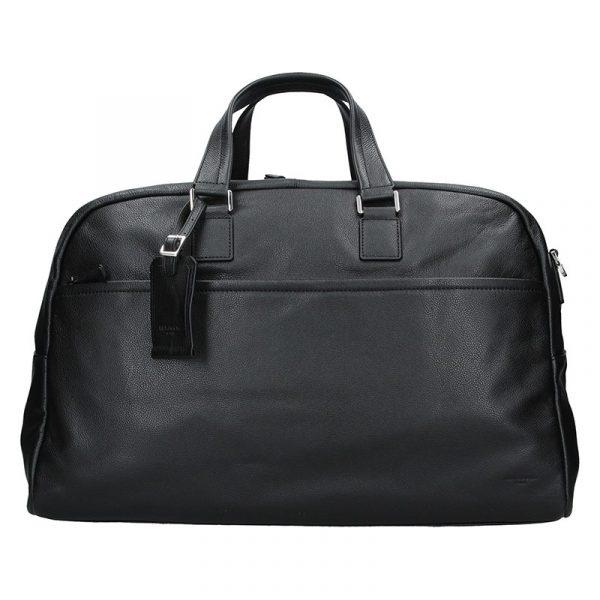 Pánská celokožená cestovní taška Hexagona Tobias – černá