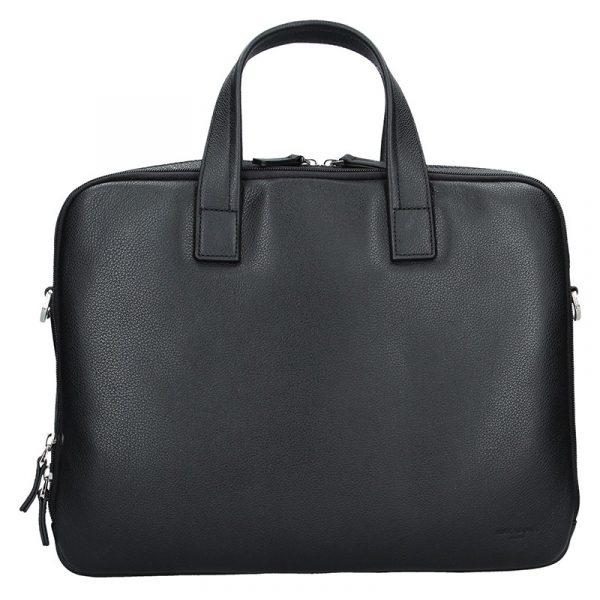 Pánská kožená taška přes rameno Hexagona Nicolas – černá