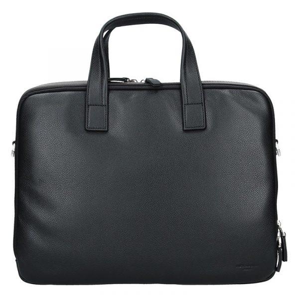 Pánská kožená taška přes rameno Hexagona Nicolas – černo-hnědá