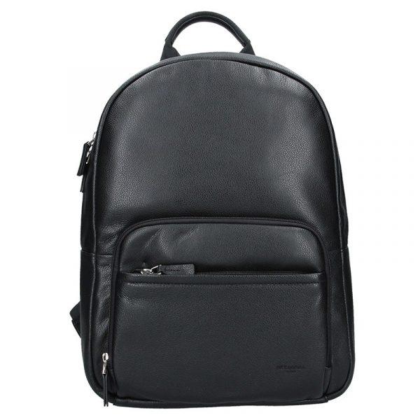 Pánský kožený batoh Hexagona Lion – černá