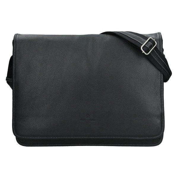 Pánská celokožená taška přes rameno Hexagona Konrad – černá