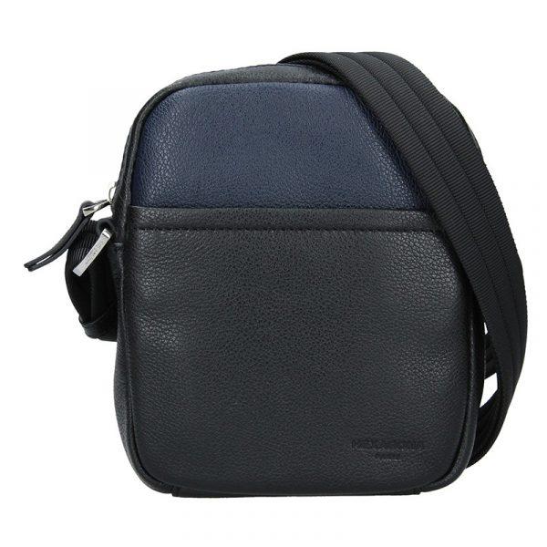 Pánská taška na doklady Hexagona Anders – černo-modrá