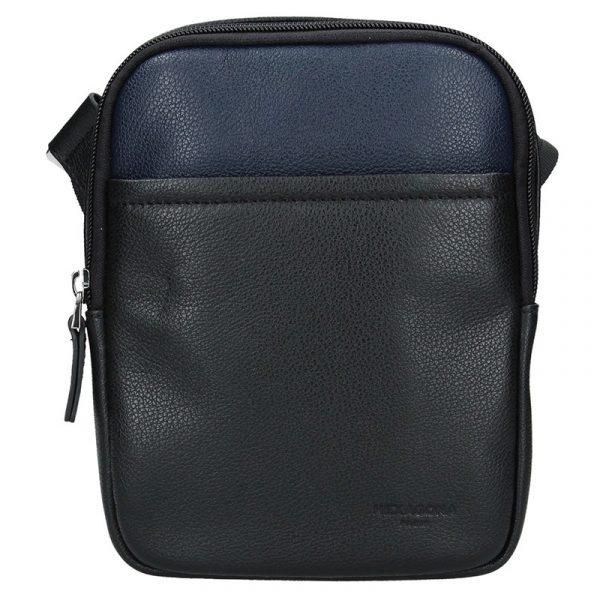 Pánská taška na doklady Hexagona Ruben – černo-modrá