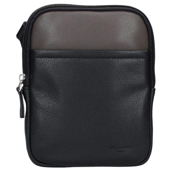 Pánská taška na doklady Hexagona Ruben – černo-hnědá