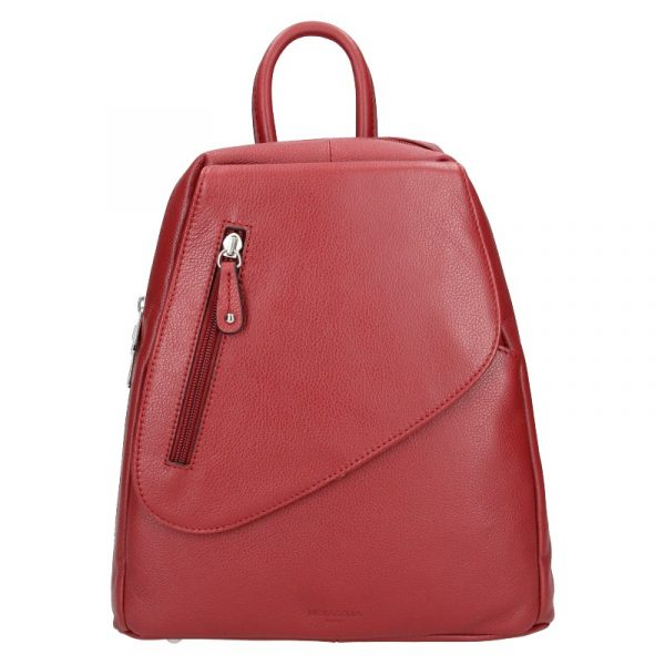 Dámský kožený batoh Hexagona Eveline – tmavě červená