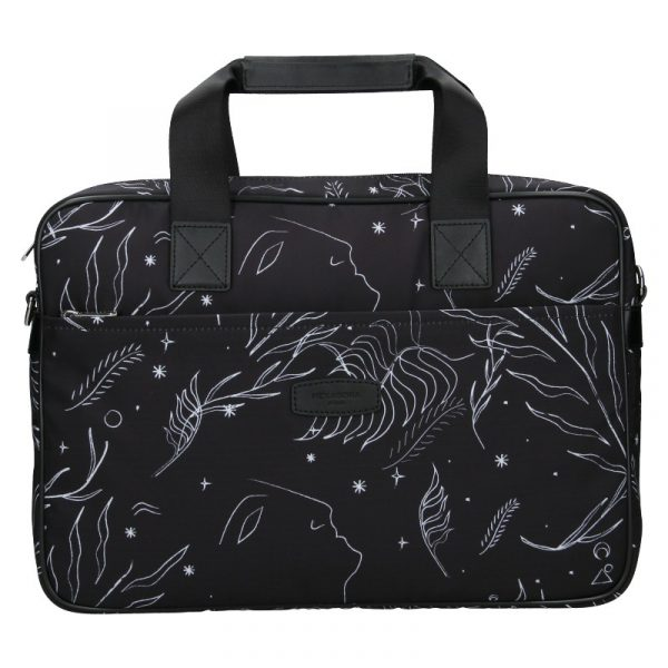 Dámská taška na notebook Hexagona Flow – černá