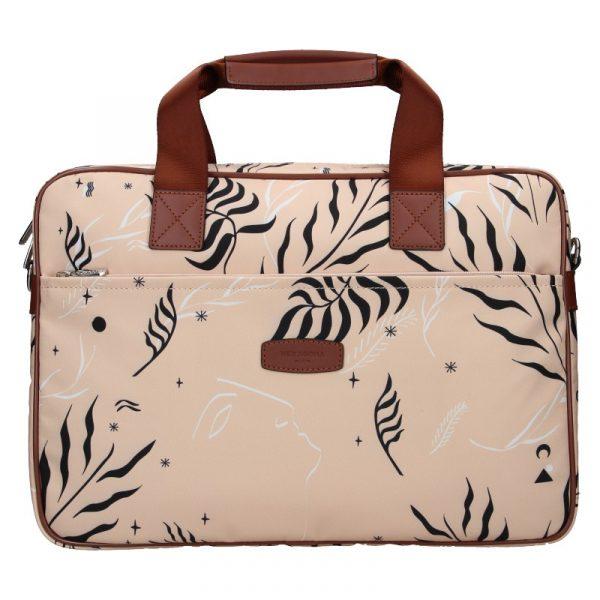 Dámská taška na notebook Hexagona Flow – růžová