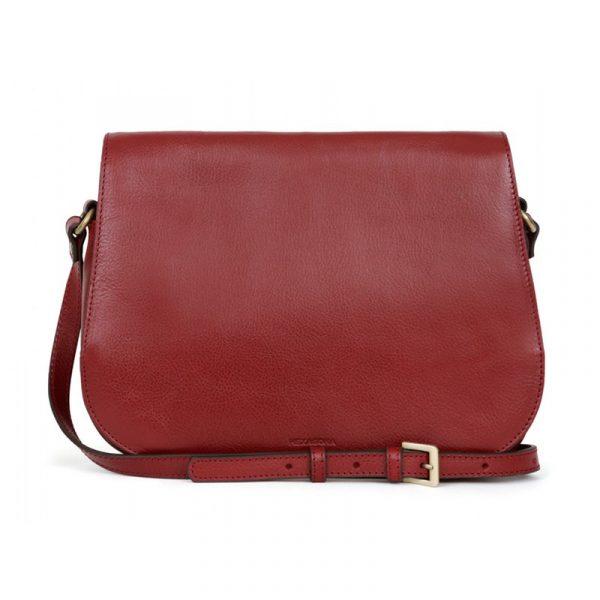 Dámská kožená kabelka Hexagona Giada – červená