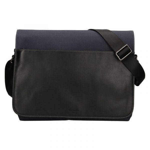 Pánská taška přes rameno Hexagona Davon – černo-modrá