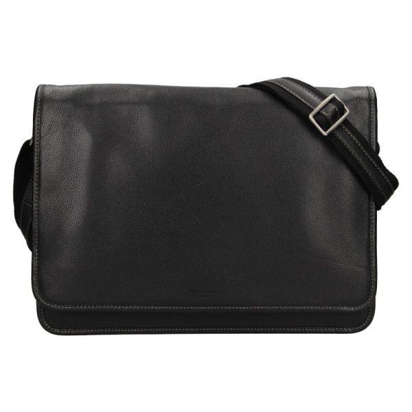 Pánská celokožená taška přes rameno Hexagona Astor – černá