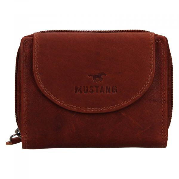 Dámská kožená peněženka Mustang Alice – hnědá