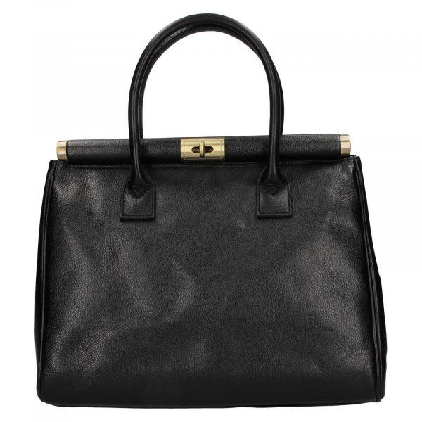 Dámská kožená kufříková kabelka Hexagona Zoe – černá