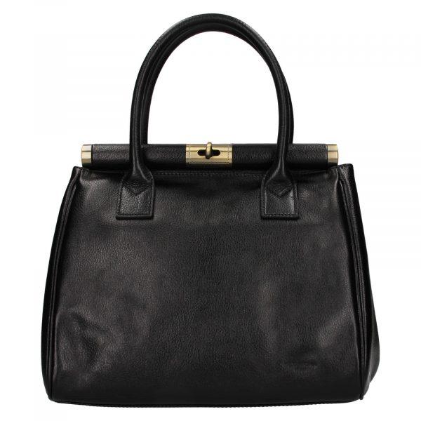 Dámská kožená kufříková kabelka Hexagona Hannas – černá
