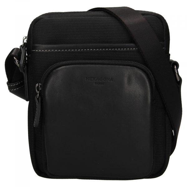 Pánska taška na doklady Hexagona Fonce – černá